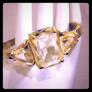 Vintages Style Hinge Bracelet with Yellow Stones